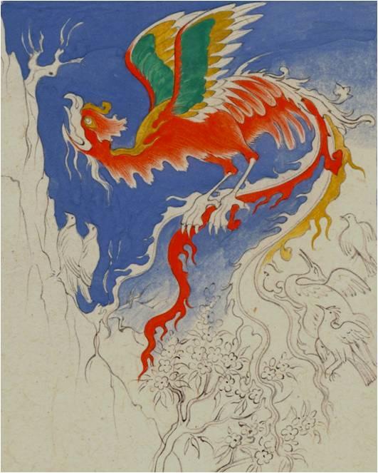 A mughal masterpiece at the british museum anita chowdry for Huma bird tattoo