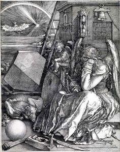 Melancholia Woodcut by Albrecht Durer