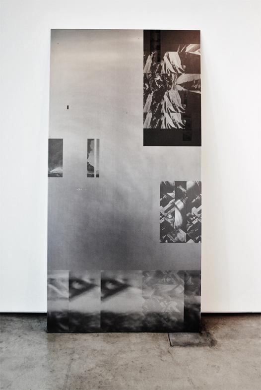 Martin Guinard-Terrin, M.A. Fine Art, archive film images on aluminium