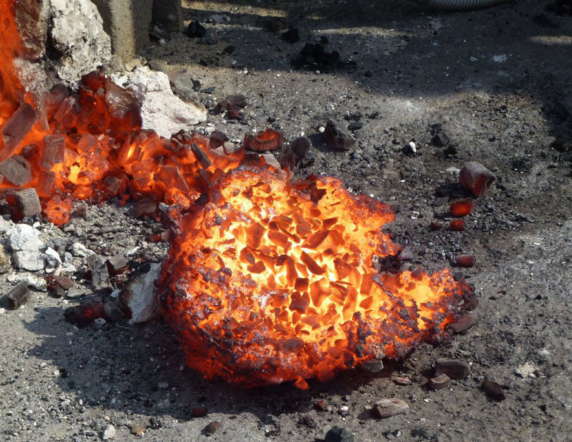 Slag Sawdust Melted : The ancient art of smelting iron anita chowdry