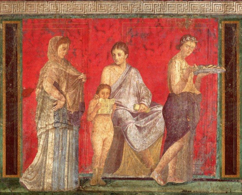 Roman fresco from the Villa of Mysteries, Pompeii (image courtesy of Wikimedia commons)