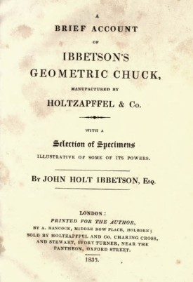 Title page of Ibbetson's booklet, 1833