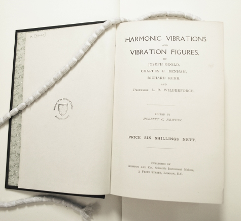 A luxury copy of Harmonic Vibrations in the library of the Museum of the History of Science, Oxford.