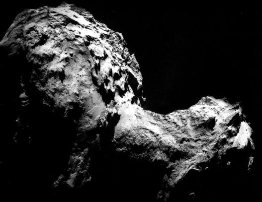 Comet 67P/Churyumov-Gerasimenko, Photogravure, 2014. Original Image: European Space Agency.