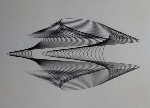 Harmonograph drawing. Image copyright Ray Henville