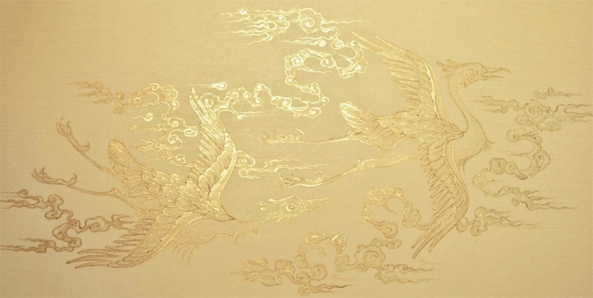 Stage 4: Polish up the linear gold-work. Image copyright Anita Chowdry