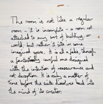 Sarah Fortais: Inscription on the installation