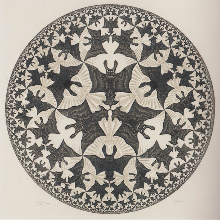 Circle Limit IV (Heaven and Hell) M.C. Escher, 1960