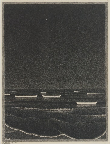 Phosphorescent Sea, M.C. Escher, 1933.
