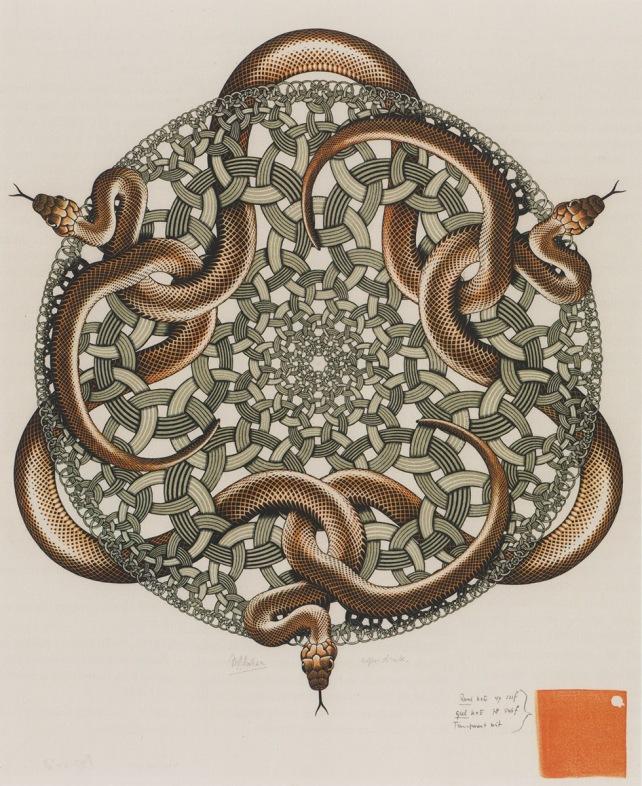 Escher snakes 3
