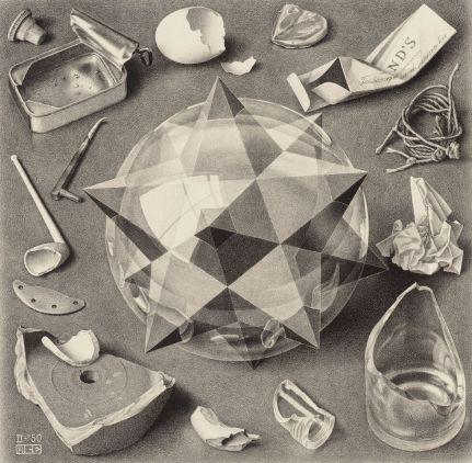 Contrast (Order and Chaos), M.C. Escher, 1950. All M.C. Escher works © 2015 The M.C. Escher Company - The Netherlands. All rights reserved. www.mcescher.com