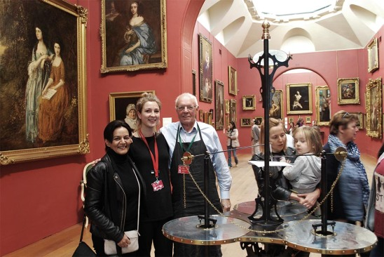 The Iron Genie in the main gallery with Emily and Peter (and yes, that is a Gainsborough on the left!)