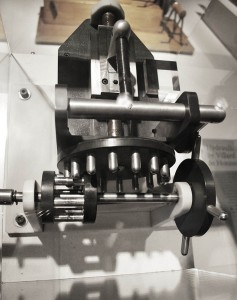 Working model of some of the basic gearing used in Renaissance engineering