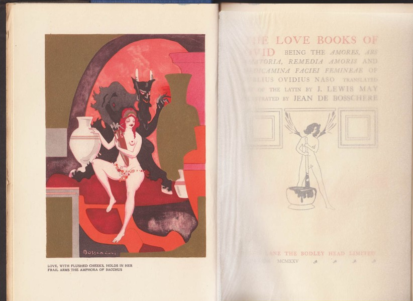 """The Love Books of Ovid"" 1915, frontispiece and title-page"